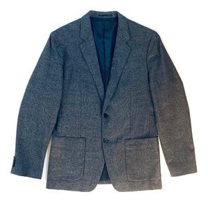 Theory black and grey/gray suit jacket/sports coat